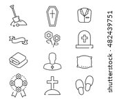 icons set for funeral agency.... | Shutterstock .eps vector #482439751