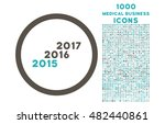 from 2016 to 2017 years rounded ... | Shutterstock .eps vector #482440861