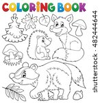 coloring book forest wildlife... | Shutterstock .eps vector #482444644