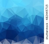 blue polygonal mosaic... | Shutterstock .eps vector #482445715