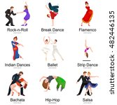 dancing people  dancer bachata  ... | Shutterstock .eps vector #482446135