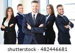 portrait of happy business... | Shutterstock . vector #482446681