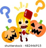 halloween and jack o lanterns... | Shutterstock .eps vector #482446915