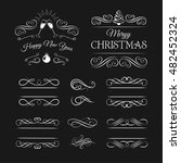 calligraphic design elements... | Shutterstock .eps vector #482452324