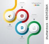vector illustration of four... | Shutterstock .eps vector #482452864