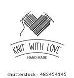 Hand Knit Label  Badge Or Logo...