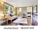 modern furnished living room... | Shutterstock . vector #482457349