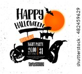 vector night halloween poster... | Shutterstock .eps vector #482459629