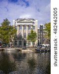 Small photo of Amsterdam, Holland, Ocktober, 2014: Facade of the Felix Merites conference center on the Keizersgracht canal, home of the annual Amsterdam Dance Event (ADE)