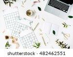wedding planner schedule... | Shutterstock . vector #482462551