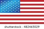 usa flag  american vector... | Shutterstock .eps vector #482465029