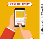 concept of the fast delivery... | Shutterstock .eps vector #482467861