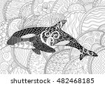 killer whale with high details. ... | Shutterstock .eps vector #482468185