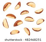 brazil nuts isolated | Shutterstock . vector #482468251