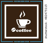 coffee cup icon vector... | Shutterstock .eps vector #482475115