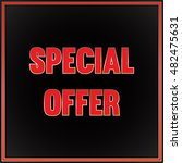 special offer tag. vector... | Shutterstock .eps vector #482475631