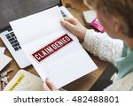 delayed banned cancelled denied ... | Shutterstock . vector #482488801