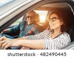happy couple goes by the car | Shutterstock . vector #482490445