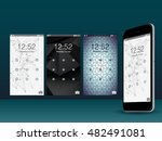 modern lock screen ui  ux and... | Shutterstock .eps vector #482491081