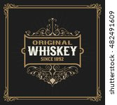 vintage whiskey label graphic | Shutterstock .eps vector #482491609