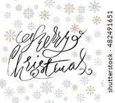 merry christmas silver...   Shutterstock .eps vector #482491651