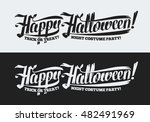 happy halloween text isolated... | Shutterstock .eps vector #482491969