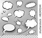 comic speech bubbles | Shutterstock .eps vector #48249244
