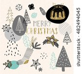 christmas greeting card | Shutterstock .eps vector #482494045