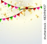 celebrate banner. party flags... | Shutterstock .eps vector #482496937