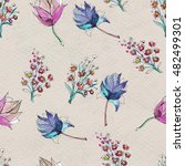 seamless pattern with colorful... | Shutterstock . vector #482499301