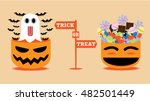 you can choose trick or treat.... | Shutterstock .eps vector #482501449