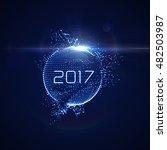 happy new 2017 year. vector...   Shutterstock .eps vector #482503987