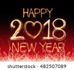 happy new year 2018 written... | Shutterstock . vector #482507089