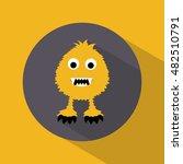 monster icons. halloween.... | Shutterstock .eps vector #482510791