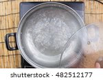 Boiled Water In Pot   Cooking...