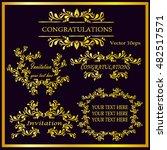 vintage gold frames  dividers ... | Shutterstock .eps vector #482517571