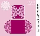laser cut wedding invitation... | Shutterstock .eps vector #482520775
