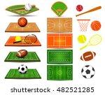 sport fields  balls and design... | Shutterstock .eps vector #482521285