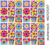vector seamless geometric cute...   Shutterstock .eps vector #482525257