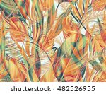 seamless tropical flower  plant ... | Shutterstock . vector #482526955