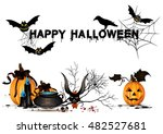 set pumpkins for halloween... | Shutterstock .eps vector #482527681