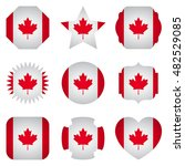canada flag with different... | Shutterstock .eps vector #482529085