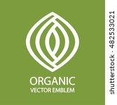 organic farming logo design... | Shutterstock .eps vector #482533021
