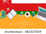 visit oman concept for your web ... | Shutterstock .eps vector #482537059
