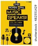 when words fail  music speaks   ... | Shutterstock .eps vector #482551429