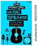 when words fail  music speaks   ... | Shutterstock .eps vector #482551459