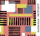 striped geometric seamless...   Shutterstock .eps vector #482551879