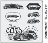 vintage cars set. retro cars... | Shutterstock .eps vector #482552149