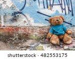 teddy bear of homeless child... | Shutterstock . vector #482553175