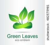 green leaves. eco icon. ecology ... | Shutterstock .eps vector #482575981